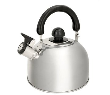 Discountershop kettle stainless steel 1.8 liters - Kettle 1.8 19x19x15cm - whistling kettle - NON ELECTRICAL