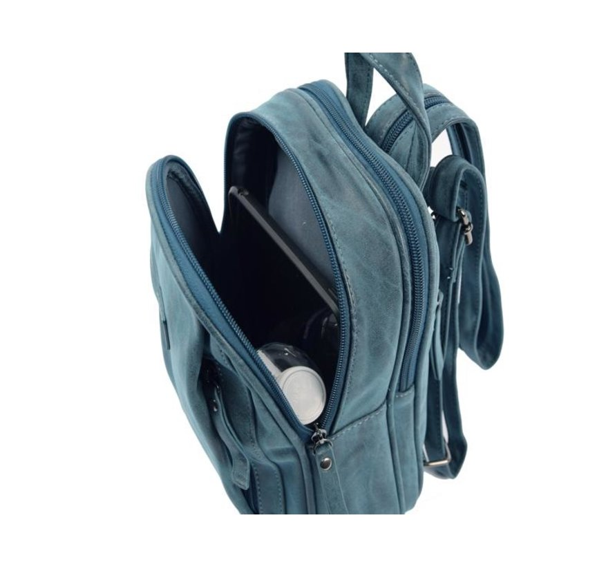 Bicky Bernard Rugzak 7 Litre - Schoudertas - Crossbodytas - tassen - tassen dames - tassen kopen - tassen hengsel - tassen Blauw- Donkerblauw- Dames tas - handtas - handtassen - handtas dames - handtassen dames - handtas Blauw- Donkerblauw