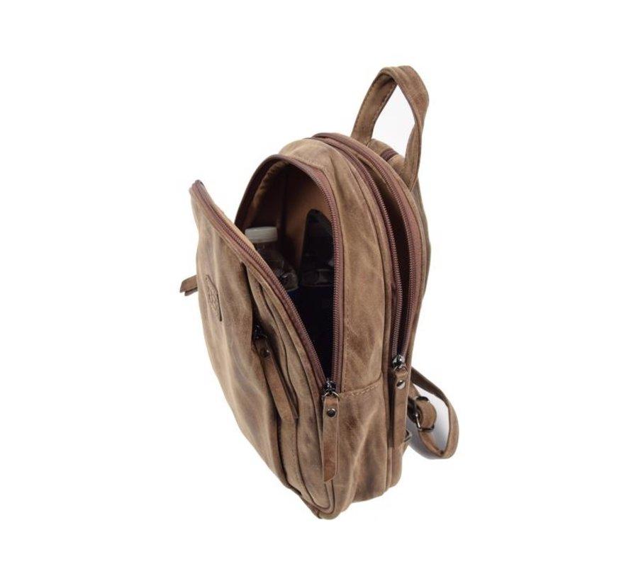 Bicky Bernard Backpack 7 Liter - Shoulder bag - Crossbody bag - bags - bags ladies - buy bags - bag handle - bags Brown - Dark brown - Ladies bag - handbag - handbags - handbag ladies - handbags ladies - handbag Brown - Dark brown