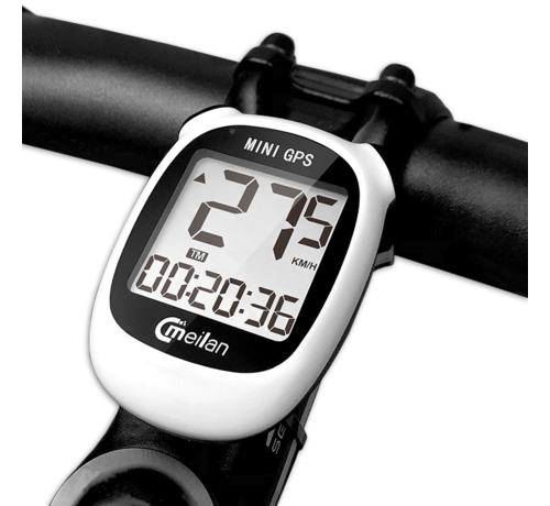 Discountershop Cycling computer IPX6 - USB rechargeable - Cycling computer 1.6 inch mono LCD - Mini with GPS chip