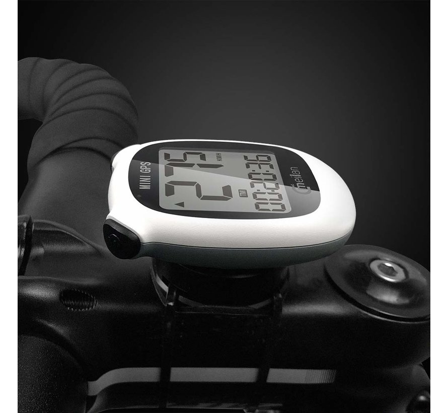 Cycling computer IPX6 - USB rechargeable - Cycling computer 1.6 inch mono LCD - Mini with GPS chip
