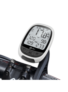 Discountershop Bicycle computer with Chip- 2.4 inch Mono LCD - USB rechargeable 900 Mah - Wireless data transfer - Ant + Bluetooth - Cadence sensor, heart rate monitor - power meter
