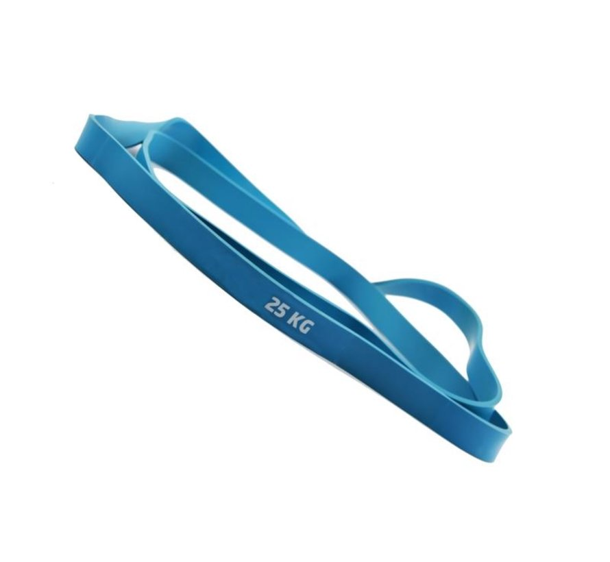 Resistance band - Weerstandsband - Fitness elastiek- Elastische Weerstandsband 25 KG Fitness- Elastiek Set - Blauw