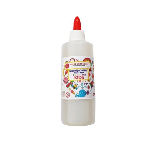 Discountershop Craft glue 200ml - Glue - All purpose glue - Glue - Children's glue - Crafts - Cheap craft glue - Transparent craft glue