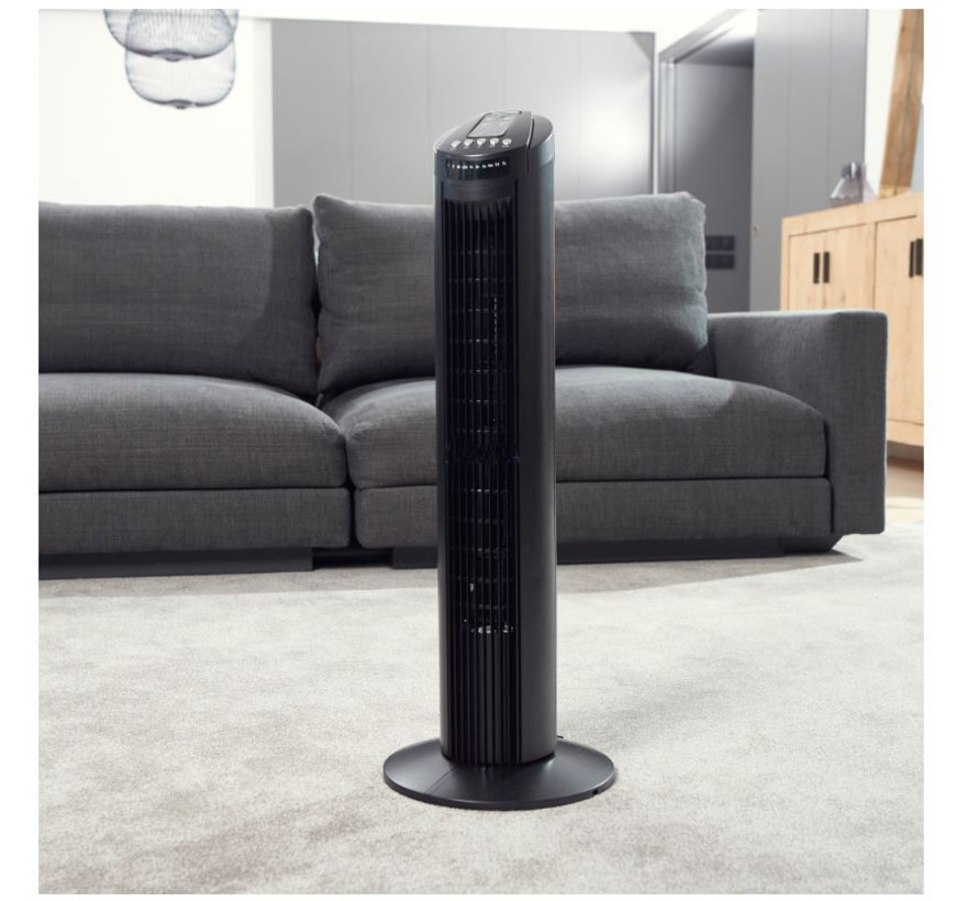 Discountershop - Tower fan 45 watt with Remote control and timer