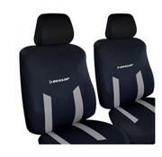 Dunlop Dunlop autostoelhoezen set - Autostoelhoes - Stoelhoezen| 6-delig - Zwart/Grijs