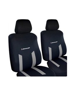 Discountershop Dunlop Stoelhoezenset - Universeel 6-delig - Zwart/Grijs