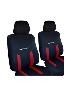 Discountershop Dunlop car seat covers set - Car seat cover - Seat covers   6 parts - Red