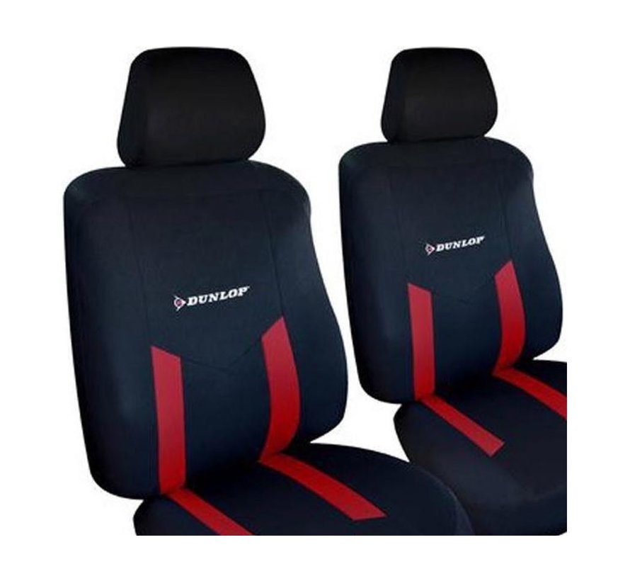 Dunlop car seat covers set - Car seat cover - Seat covers   6 parts - Red
