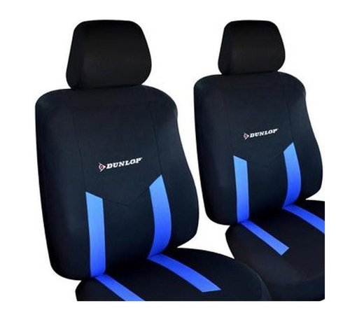 Discountershop Dunlop car seat covers set - Car seat cover - Seat covers | 6-piece - Blue