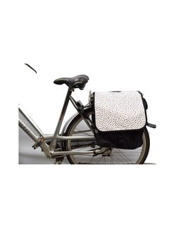 Discountershop Double Pannier waterproof with reflective stripes for extra safety - Pannier dots 2x 14L = 28 liters