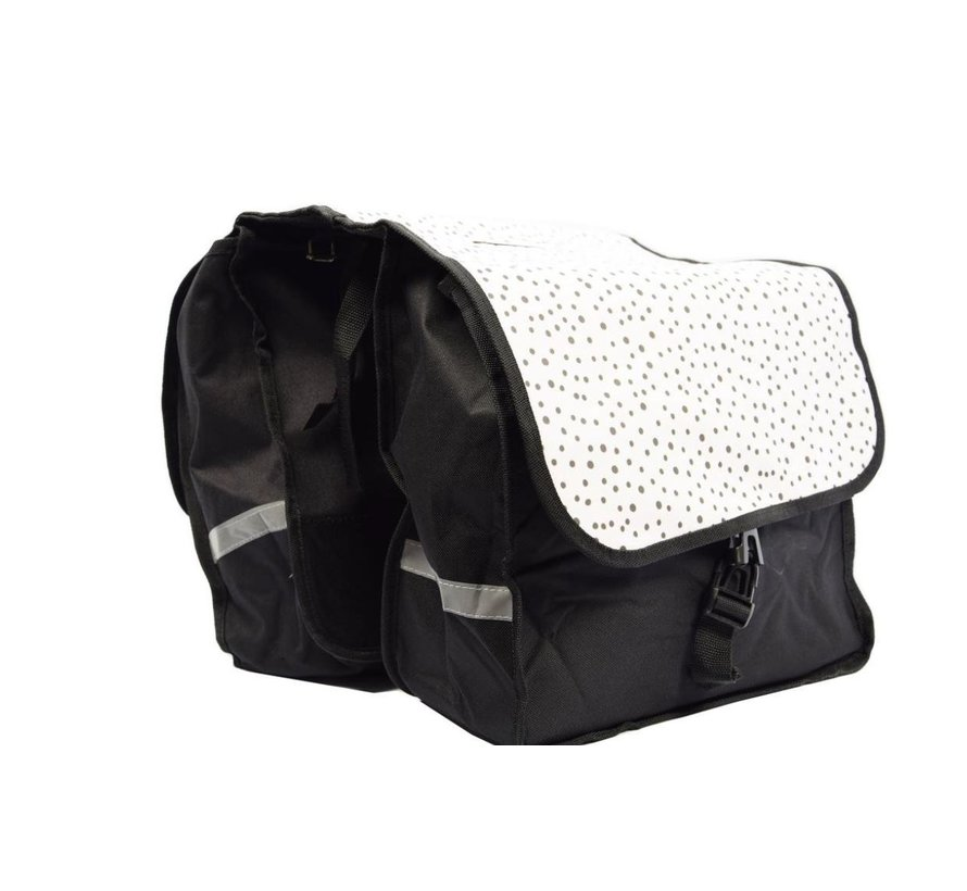 Double Pannier waterproof with reflective stripes for extra safety - Pannier dots 2x 14L = 28 liters