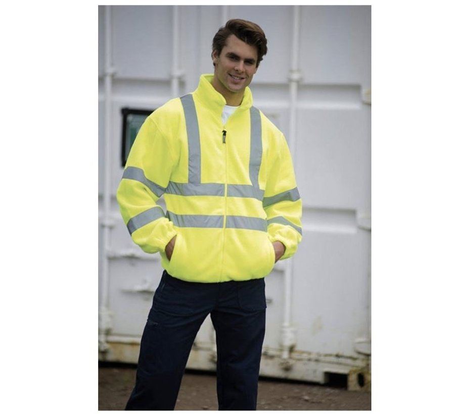 Safety vest with high visibility - Reflector vest - Warning vest High reflector safety jacket with pockets - Safety jacket - Warm safety jacket - SIZE XXL