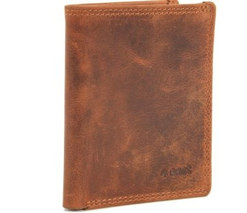 4East Card case with ID - credit card holder with money - card holder with bills - 6 cards