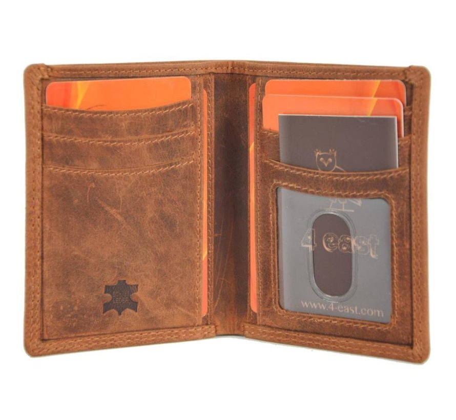 Card case with ID - credit card holder with money - card holder with bills - 6 cards