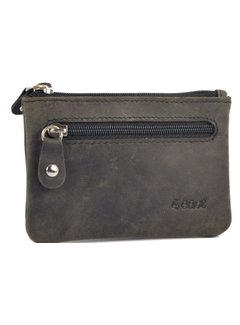 4East Key pouch wallet - wallet pouch - ring wallet - zipped card holder - zipper wallet - 2 zipper wallet - buffalo leather wallet