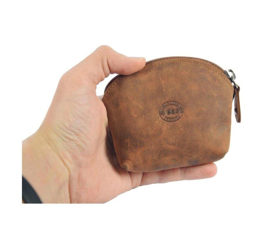 Portemonnee - vakantie portemonnee - Compact portemonnee - Buffelleer portemonnee - Kleine portemonnee - Portemonnee - Ronde portemonnee