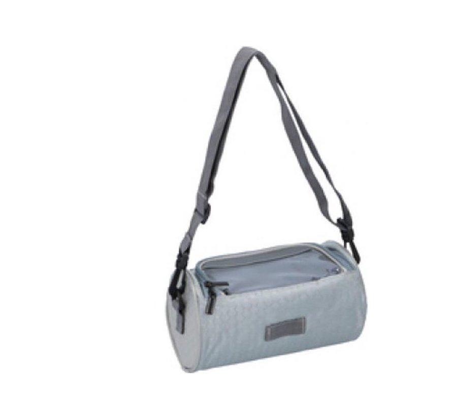 Bicycle handlebar bag 20x12x12cm - bicycle bag - bicycle handlebar bag - bicycle bag for your smartphone Gray
