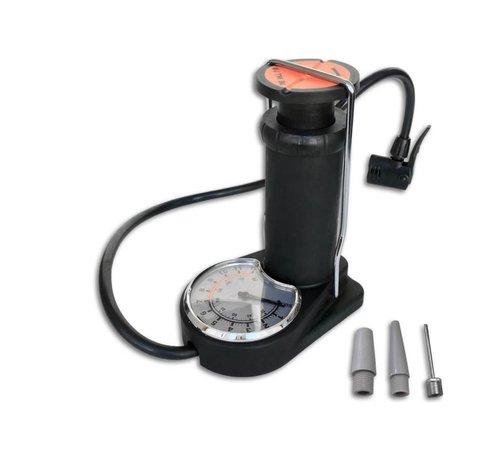 Discountershop Discountershop - Mini voetpomp met manometer - Dunlop- Presta en schrader ventielen