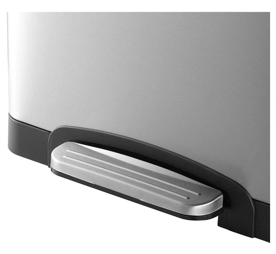 Black+Decker Pedaalemmer - 2 x 20L - RVS - soft close - losse binnenemmers 40 Litre