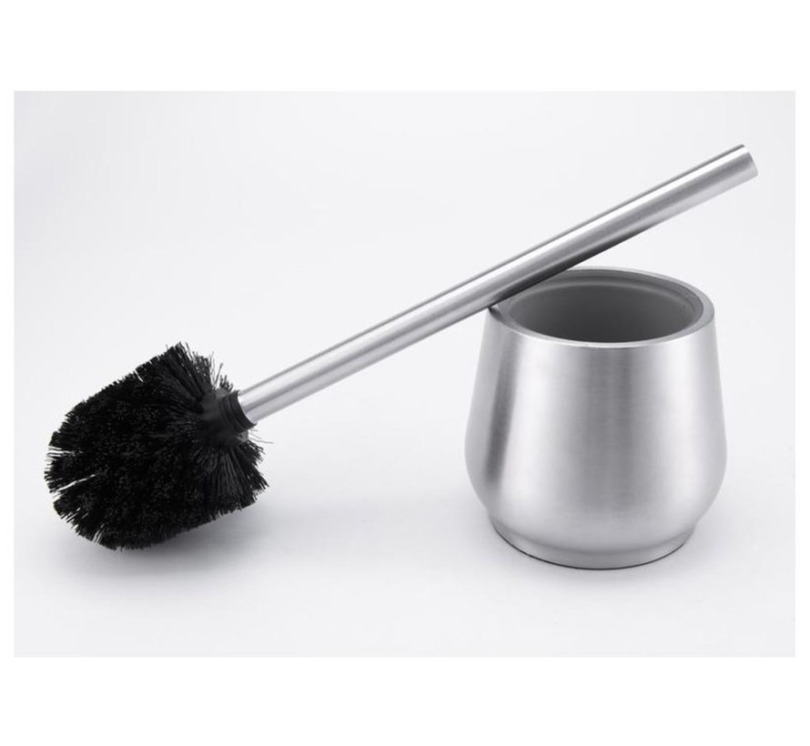 Stainless steel toilet brush with soap dispenser - Toilet brush stainless steel - Stainless steel Toilet brush in holder - Toilet brush holder - Toilet brush