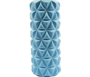 Discountershop Massage roller | Massage Roller | Foam Roller | Fitness | Sport | Trigger Point Massage | Yoga | 14.5 x 33 cm | Blue