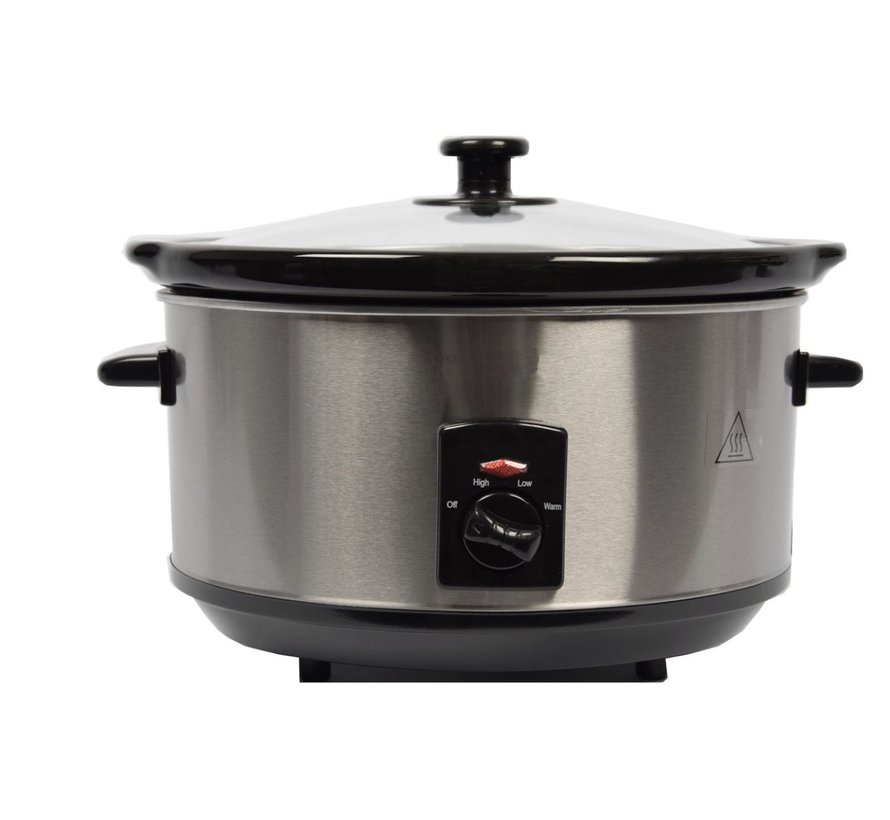 Stainless steel slow cooker 3.5 Liter oval