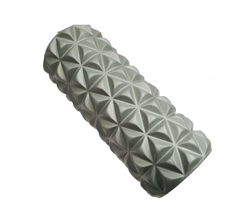 Discountershop Massage roller | Massage Roller | Foam Roller | Fitness | Sport | Trigger Point Massage | Yoga | 14.5 x 33 cm | Gray
