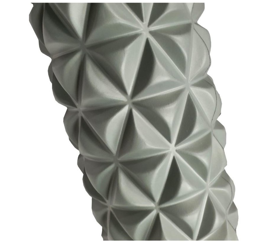 Massage roller | Massage Roller | Foam Roller | Fitness | Sport | Trigger Point Massage | Yoga | 14.5 x 33 cm | Gray