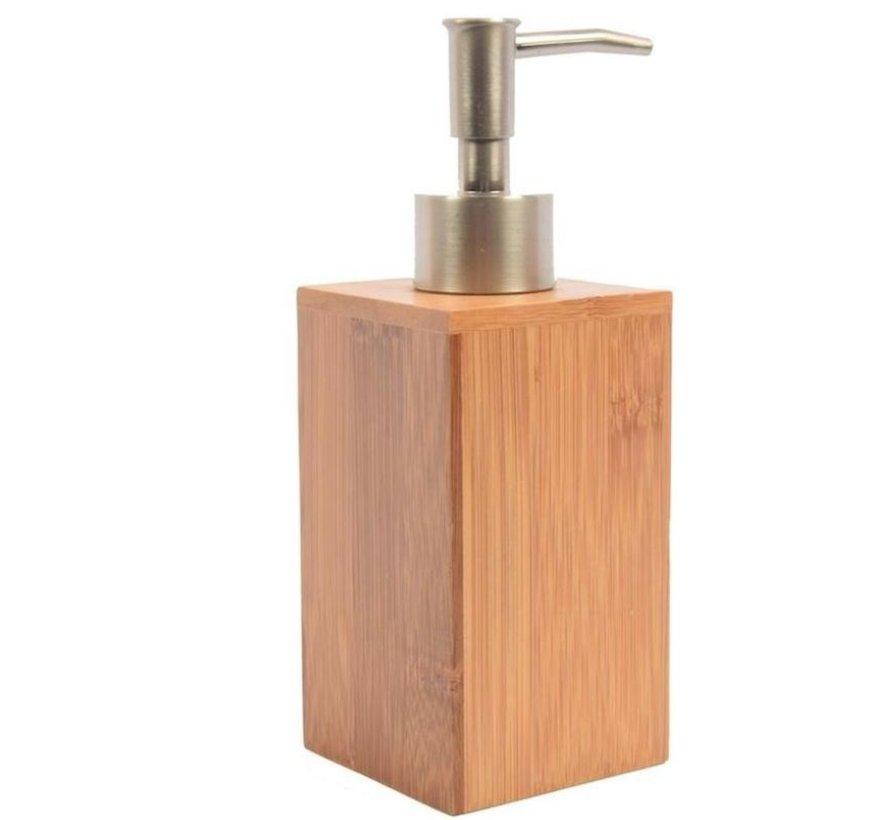 Soap dispenser Bamboo bathroom / toilet - Standing - 250 ml - Bamboo - Stainless steel