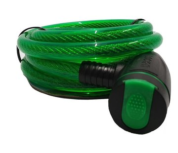 Discountershop Bicycle lock - thick lock 12mm - Bicycle lock for your scooter - green