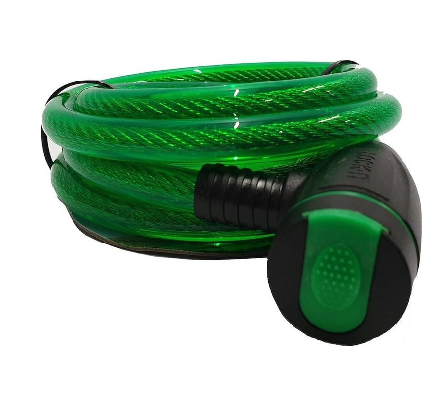 Bicycle lock - thick lock 12mm - Bicycle lock for your scooter - green