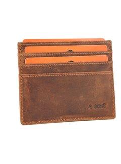 4East Card case - credit card holder with money - card holder with bills - card holder - credit card - 6 card holder.