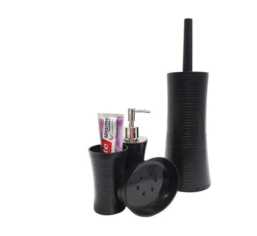 Bathroom and toilet set - toilet brush - soap dispenser - soap holder - teeth brush holder