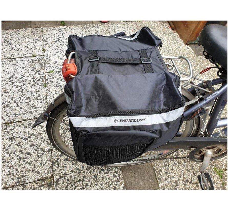 Dubbele Fietstas - LET OP ! NIET HEEL GROOT! 23 Liter (2x13L) met handgreep - fietstas - fietstassen