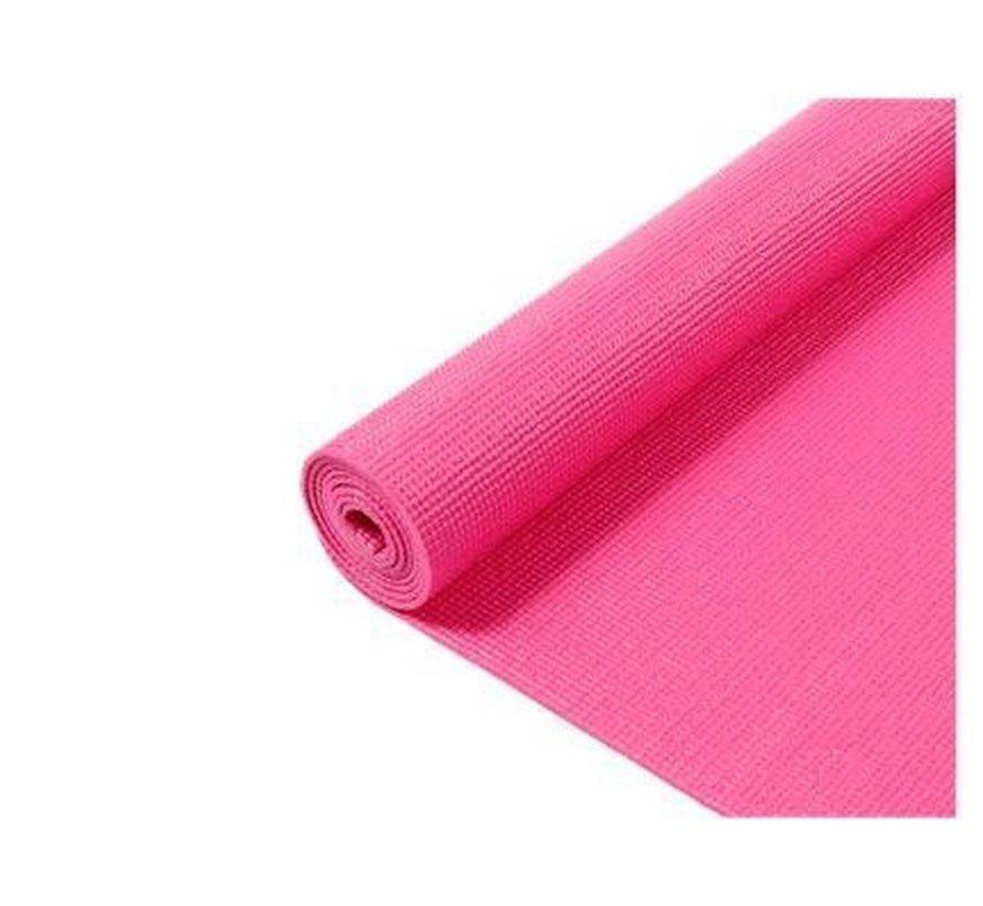 Yoga Mat - Fitnessmat - Gymmat - Sportmat- Yogamat - 170 x 60 x 0.3 cm - Roze