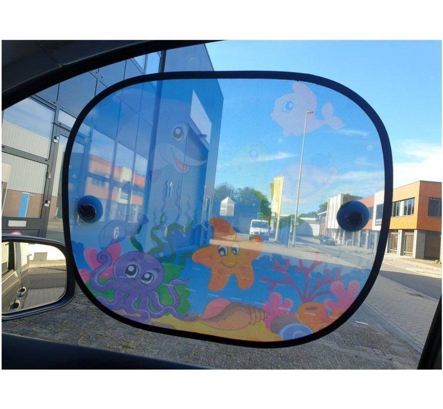 Zonwering Zonnescherm Auto UV Protectie 2 Stuks Autozonwering Voor Autoraam Zijruit - onderwater
