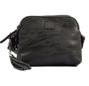 Discountershop Bicky Bernard Shoulder bag Black with 3 zippers - bag - bags - shoulder bag ladies - handbag - black shoulder bag - shoulder bag girls -