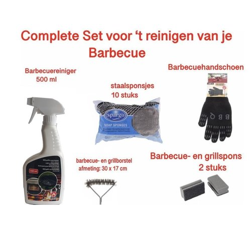 Discountershop barbecue cleaning - barbecue brush - barbecue sponge - barbecue steel sponges - BBQ brush - BBQ cleaning - BBQ accessory - BBQ grill cleaning