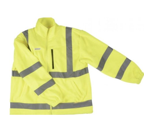 Discountershop Safety vest with high visibility - Reflector vest - Warning vest High reflector safety jacket with pockets - Safety jacket - Warm safety jacket - SIZE XL