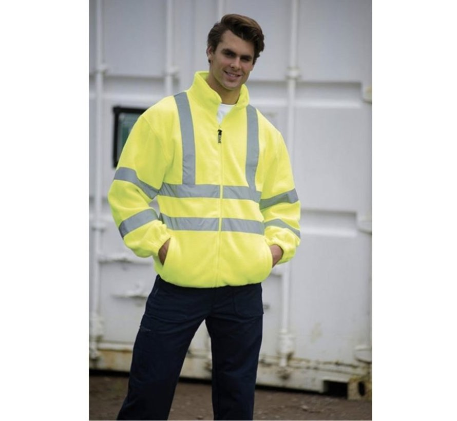 Safety vest with high visibility - Reflector vest - Warning vest High reflector safety jacket with pockets - Safety jacket - Warm safety jacket - SIZE XL