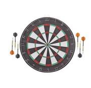 Merkloos DartBord - incl. 6x Steeltip dartpijlen - Ø bord: 42cm dubbelzijdig speelbaar Steeldarts