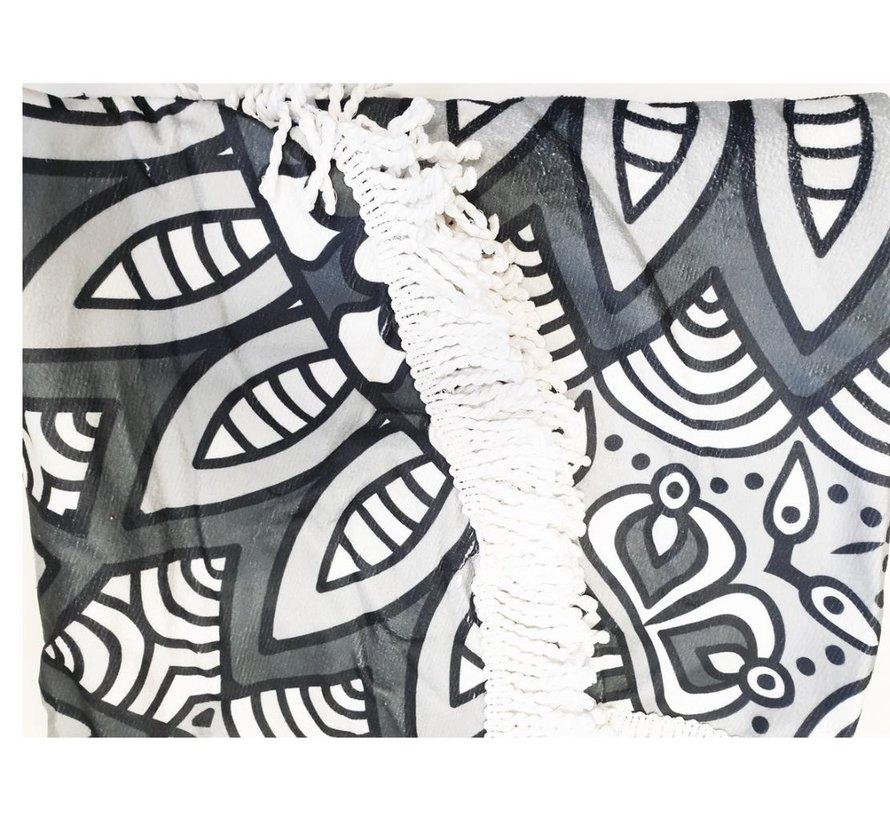 Strandlaken rond 150 cm - Mandala strandlaken 150cm - Strandlaken -