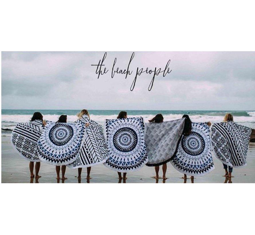 Beach towel around 150 cm - Mandala beach towel 150cm - Beach towel -