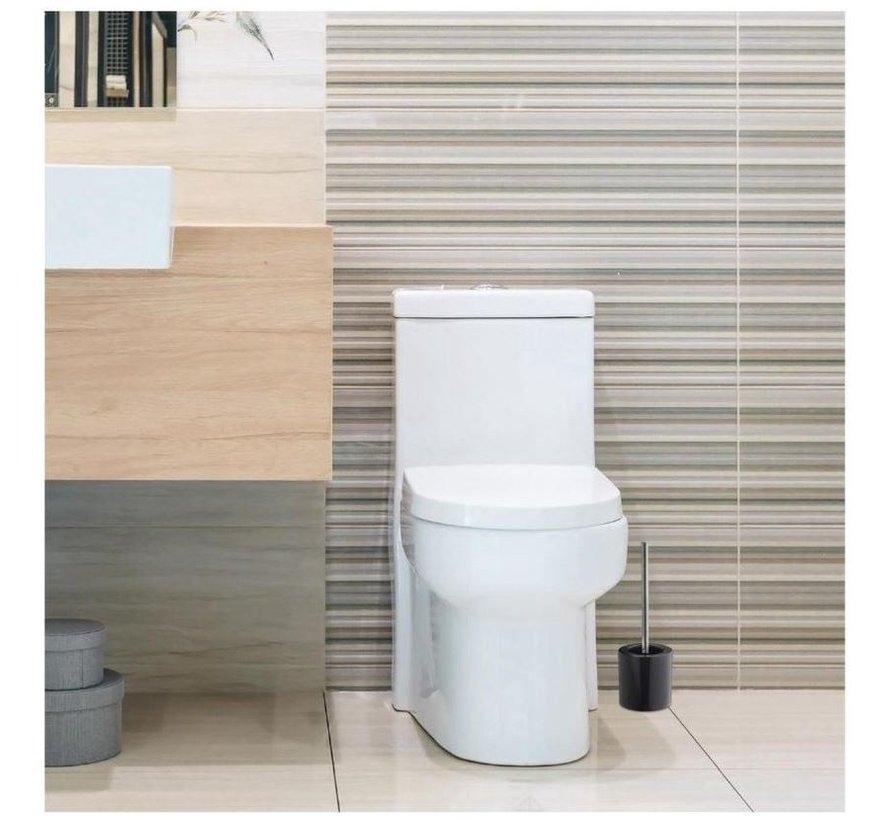 Toiletborstel - Keramiek 38,5 cm diameter 12,5 - antraciet