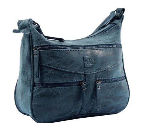 Discountershop Bicky Bernard Omhang Shoulder Bag Zipper pockets Trendy Bag blue - dark blue 3 Bag type Shoulder bag Shoulder strap type Not removable, but adjustable Includes laptop compartment No