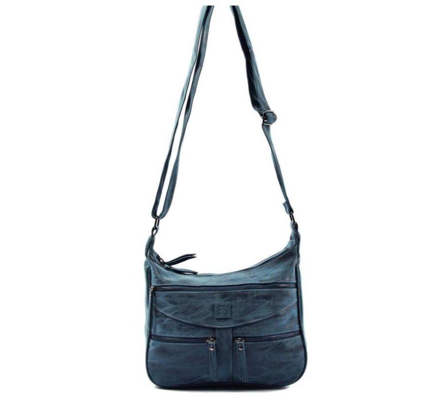 Bicky Bernard Omhang Shoulder Bag Zipper pockets Trendy Bag blue - dark blue 3 Bag type Shoulder bag Shoulder strap type Not removable, but adjustable Includes laptop compartment No