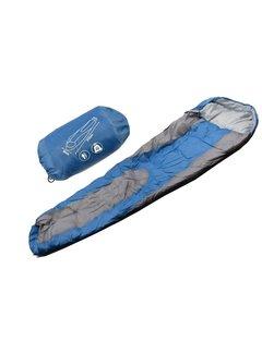 Discountershop sleeping place 80 cm 210 cm 50 cm storage bag blue mummy sleeping bags