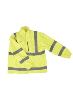 Discountershop Safety vest with high visibility - Reflector vest - Warning vest High reflector safety jacket with pockets - Safety jacket - Warm safety jacket SIZE L