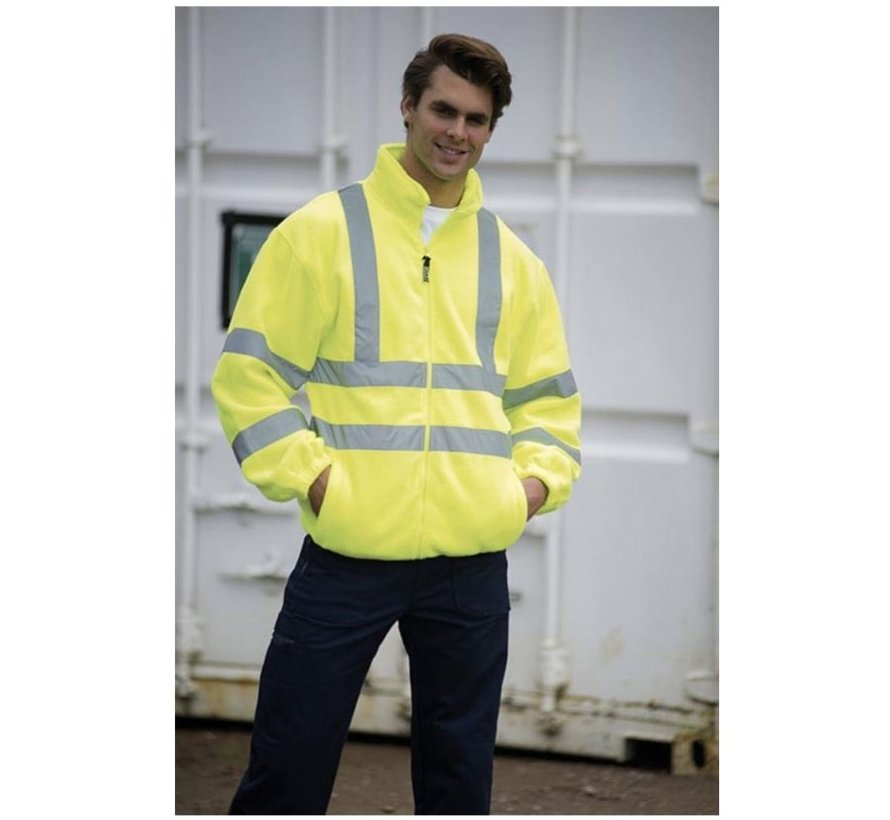 Safety vest with high visibility - Reflector vest - Warning vest High reflector safety jacket with pockets - Safety jacket - Warm safety jacket SIZE L